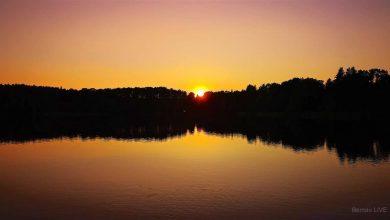 Der Frühling verabschiedet sich mit tollem Sonnenuntergang
