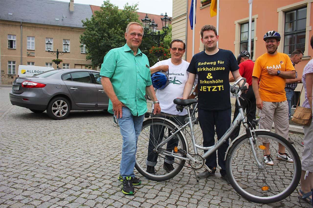 Fahrraddemos in Bernau und Biesenthal zum Tag des Fahrrades