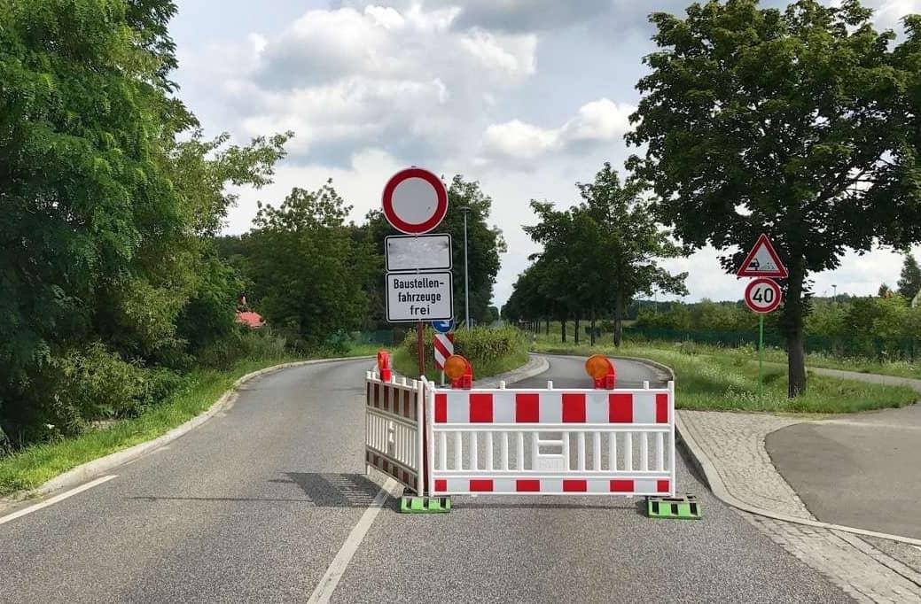Vollsperrung der Autobahnbrücke Lindenberger/Bucher Weg in Panketal