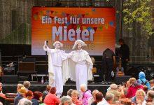 50 Jahre Wobau Bernau - Party und Public Viewing am Abend