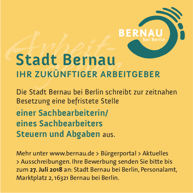 Bernau: LIVE - Webcam dokumentiert ab heute Rathausneubau