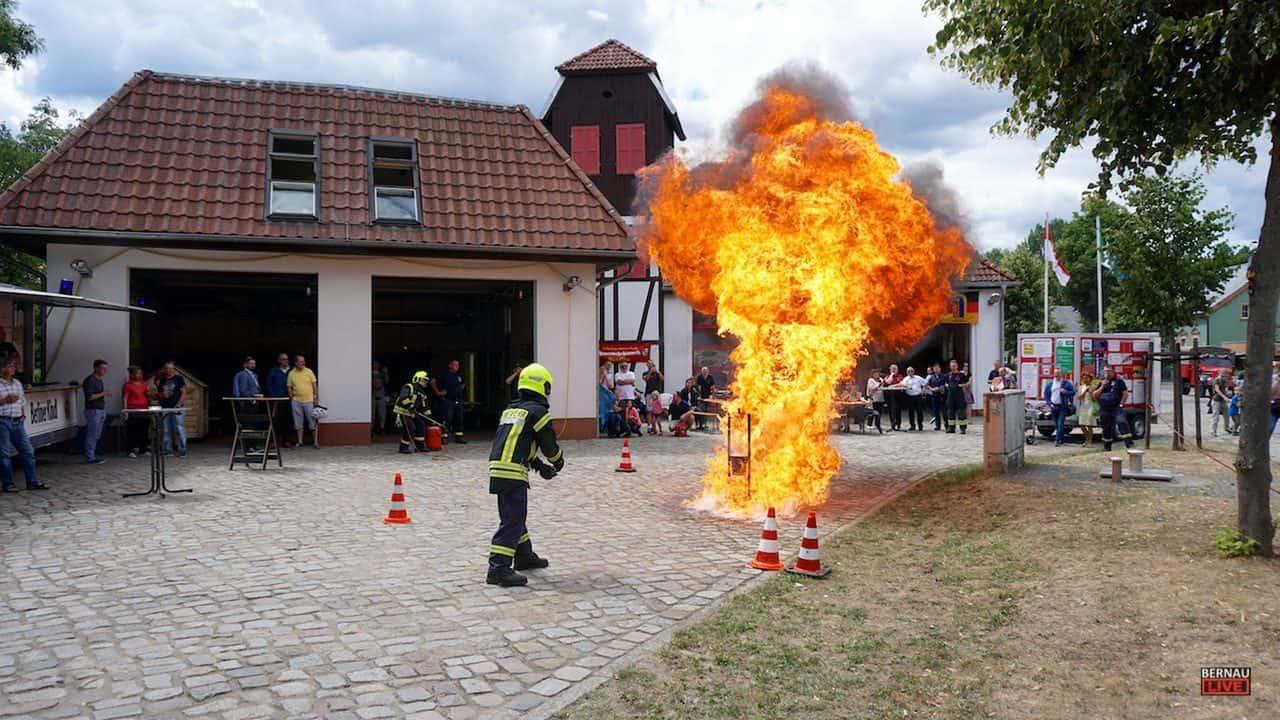 Die Feuerwehr Wandlitz gab Einblicke in ihre Arbeit und Technik