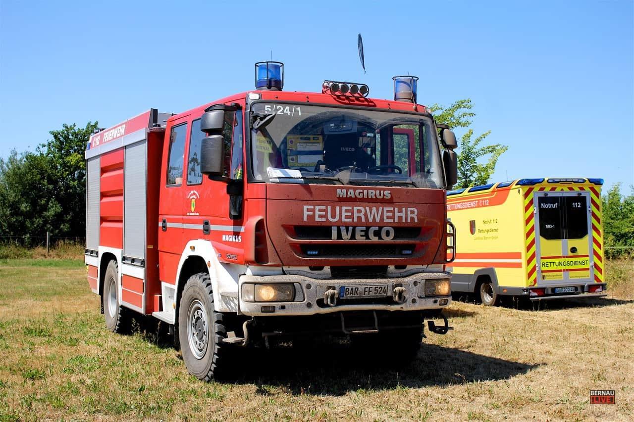 Flächenbrände zwischen Löhme und Börnicke und in Rüdnitz