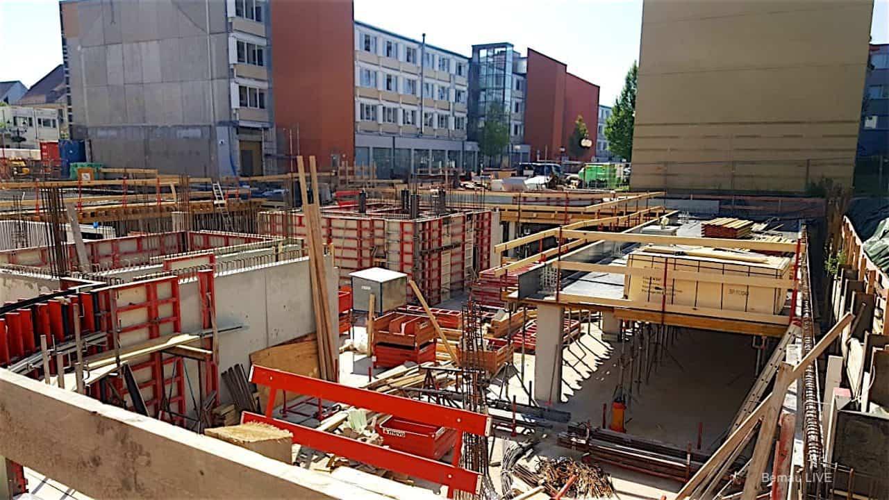 Rathausneubau in Bernau bei Berlin nimmt langsam Gestalt an