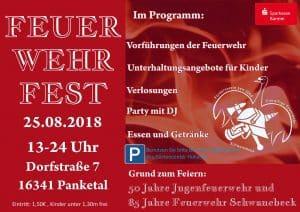 Willkommen zum Feuerwehrfest der Freiwilligen Feuerwehr Schwanebeck