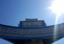 Also wir haben heute in Bernau bei Berlin 36 Grad gemessen