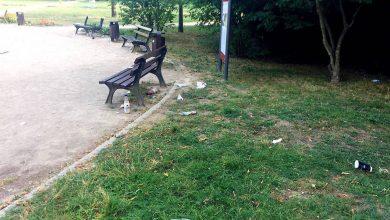 Partyhinterlassenschaften sorgen für Dreck und Müll im Stadtpark Bernau