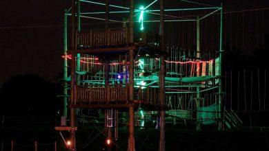 Samstagabend: Nachtklettern im Vectoura Kletterpark Bernau