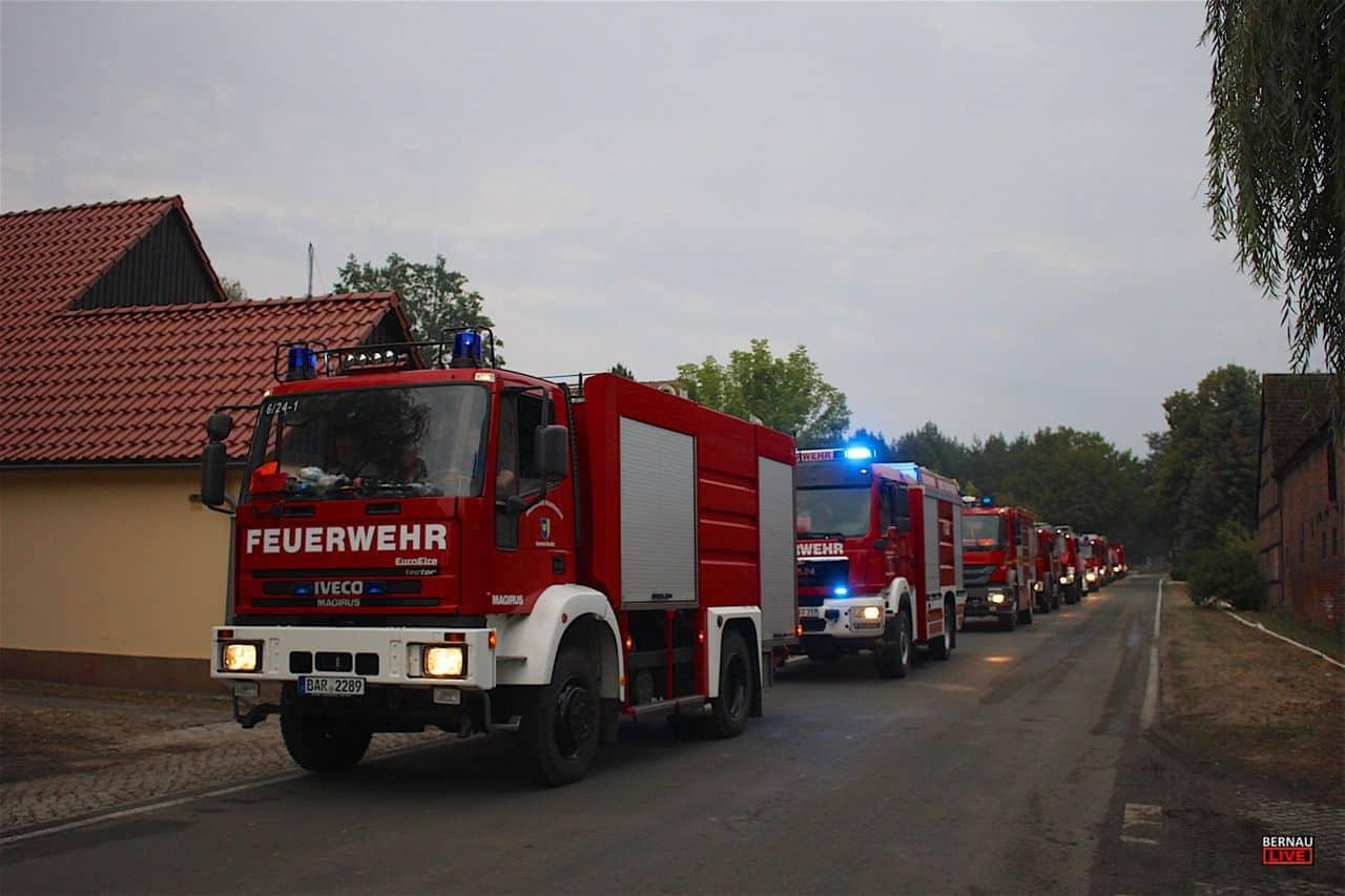 Waldbrand in Treuenbrietzen - Barnimer Einsatzkräfte gesund zurück