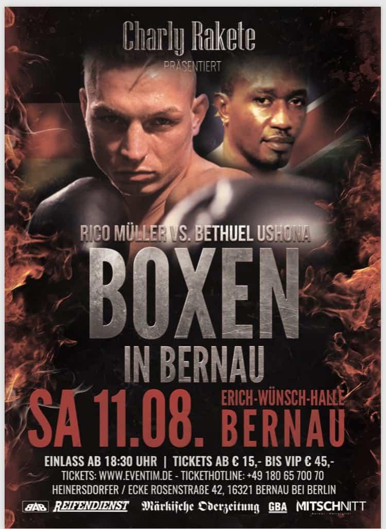 Boxen in Bernau - Rico Müller vs. Bethuel Ushona