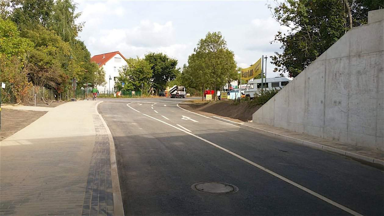 Zepernicker Chaussee in Bernau für den Verkehr freigegeben