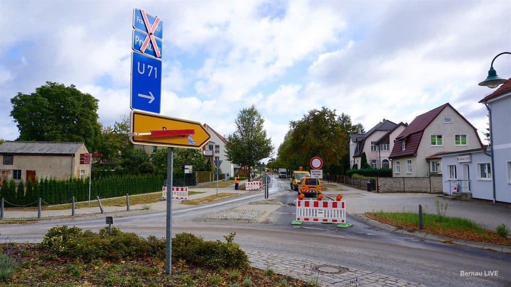 Bernau Eine Woche Baustelle An Der Bernauer Allee In Schonow