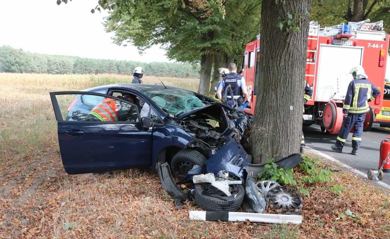 Barnim: Schwerer Verkehrsunfall zwischen Schönfeld und Willmersdorf