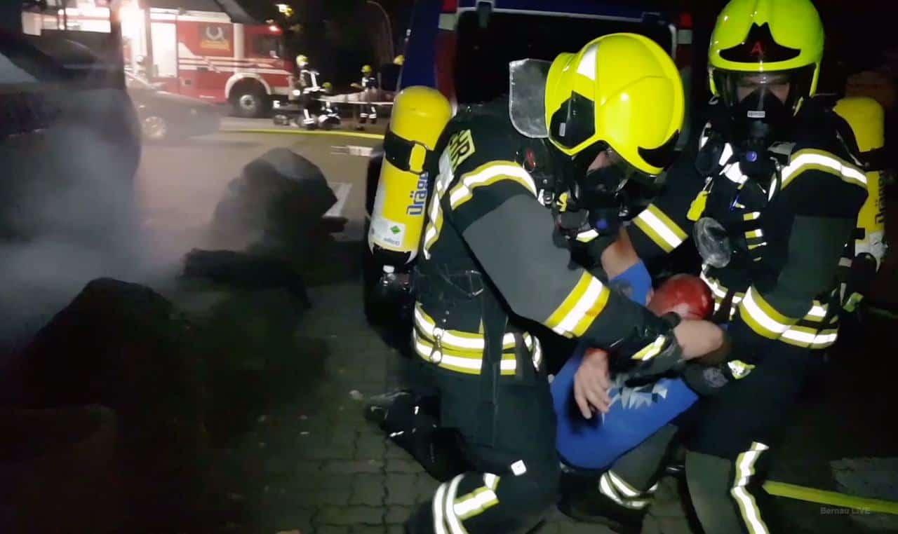 Rettungsübung der Feuerwehren Schönerlinde, Schönwalde und Basdorf