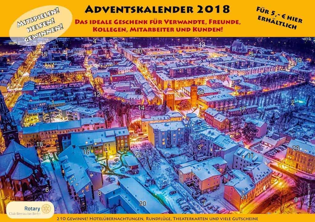 Bernau - Rotary-Weihnachtstombola 2018 Adventskalender mit Mehrwert