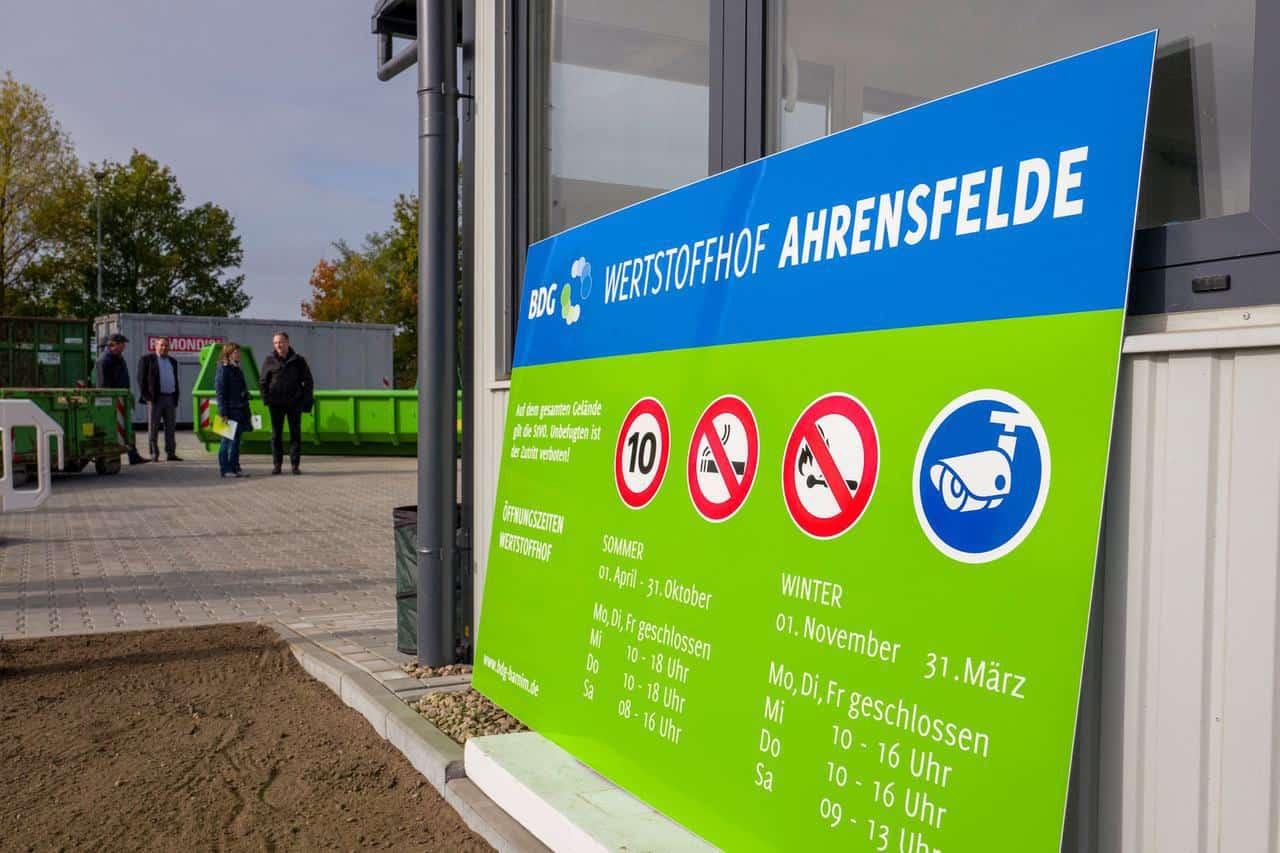 In Ahrensfelde wurde am Donnerstag ein neuer Wertstoffhof eröffnet