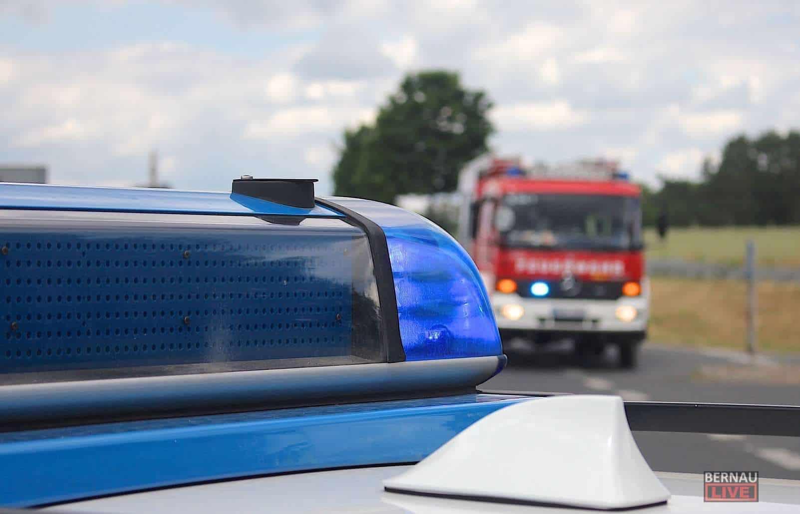 Verkehrshinweis: Schwerer Unfall A11 zw. Lanke und Finowfurt