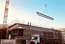 #Rathausneubau Bernau: Riesige Stahlträger für den Bürgersaal