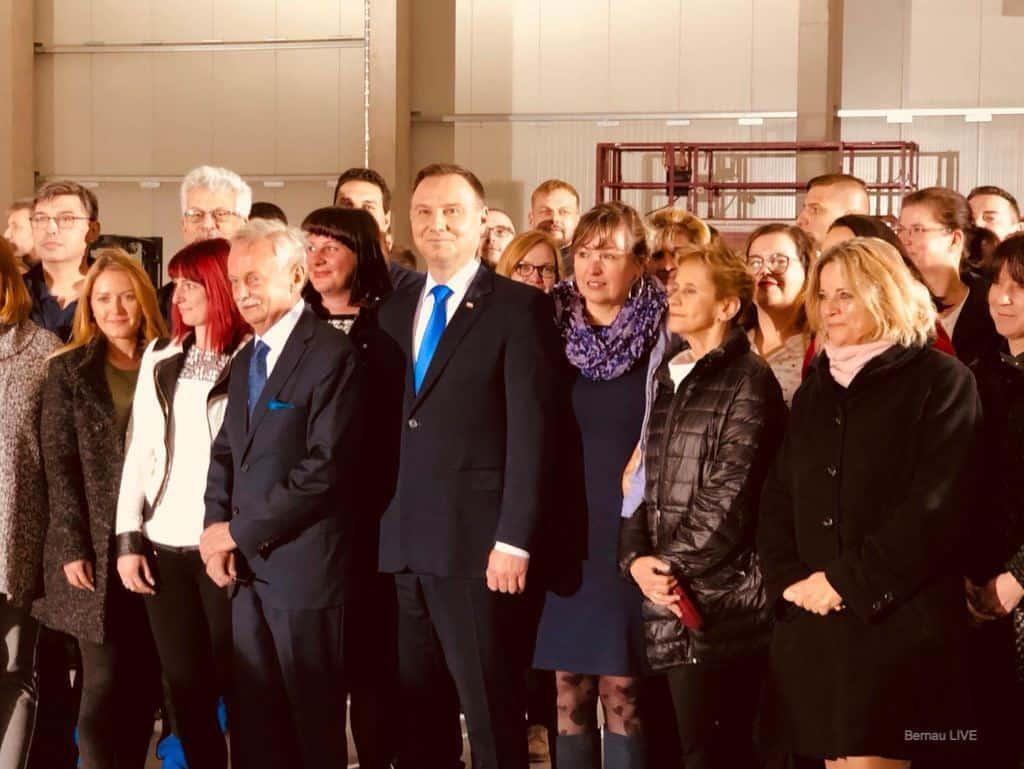 Polens Staatspräsident Andrzej Duda besuchte TZMO in Biesenthal