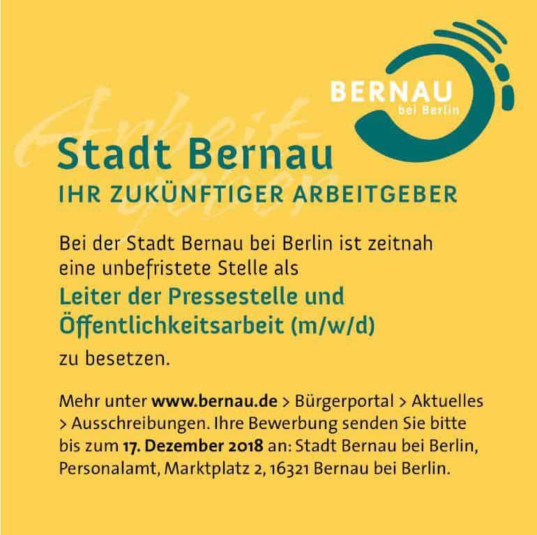 Moin aus Bernau und willkommen in der neuen Woche