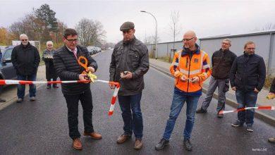 Bernau Rehberge: Übergabe der verlängerten Carl-Friedrich-Benz-Straße