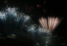 Feuerwerk und Lasershow an der Bahnhofs-Passage Bernau - vielen Dank!