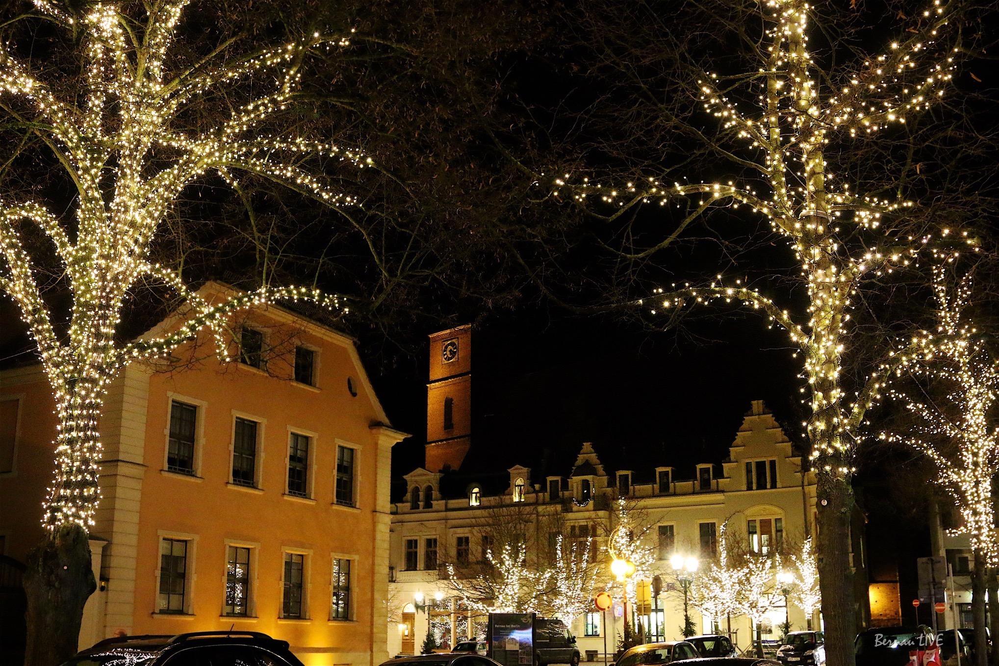 170.000 Lämpchen leuchten ab 1. Advent in der Innenstadt von Bernau