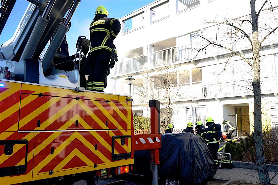 Feuerwehr Bernau: Brand in der Spreeallee zum Glück schnell gelöscht