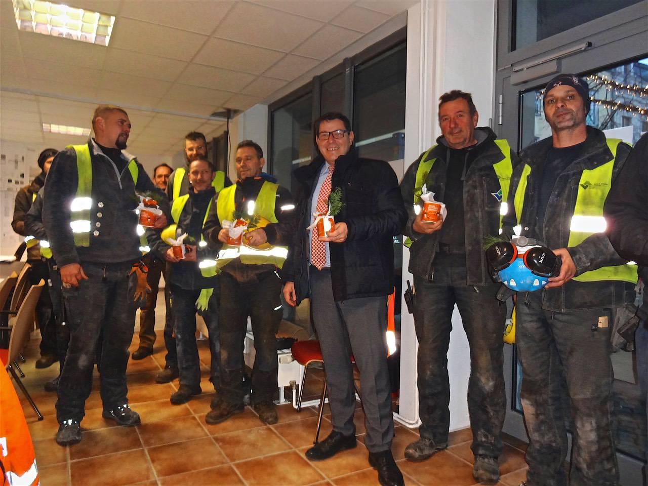 Rathausneubau Bernau: Stadt bedankte sich bei den Bauarbeitern