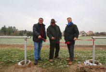 Rollrasen und Bewässerungsanlage für den Sportplatz Ladeburg