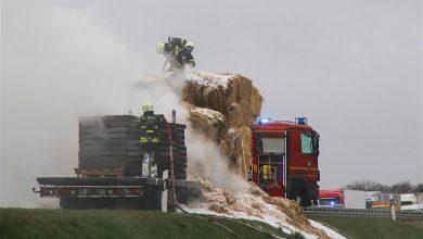 LKW Brand auf der A10 sorgte für Großeinsatz der Feuerwehren