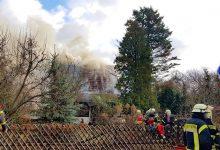 Brand eines EFH in Panketal - Feuerwehren im Großeinsatz