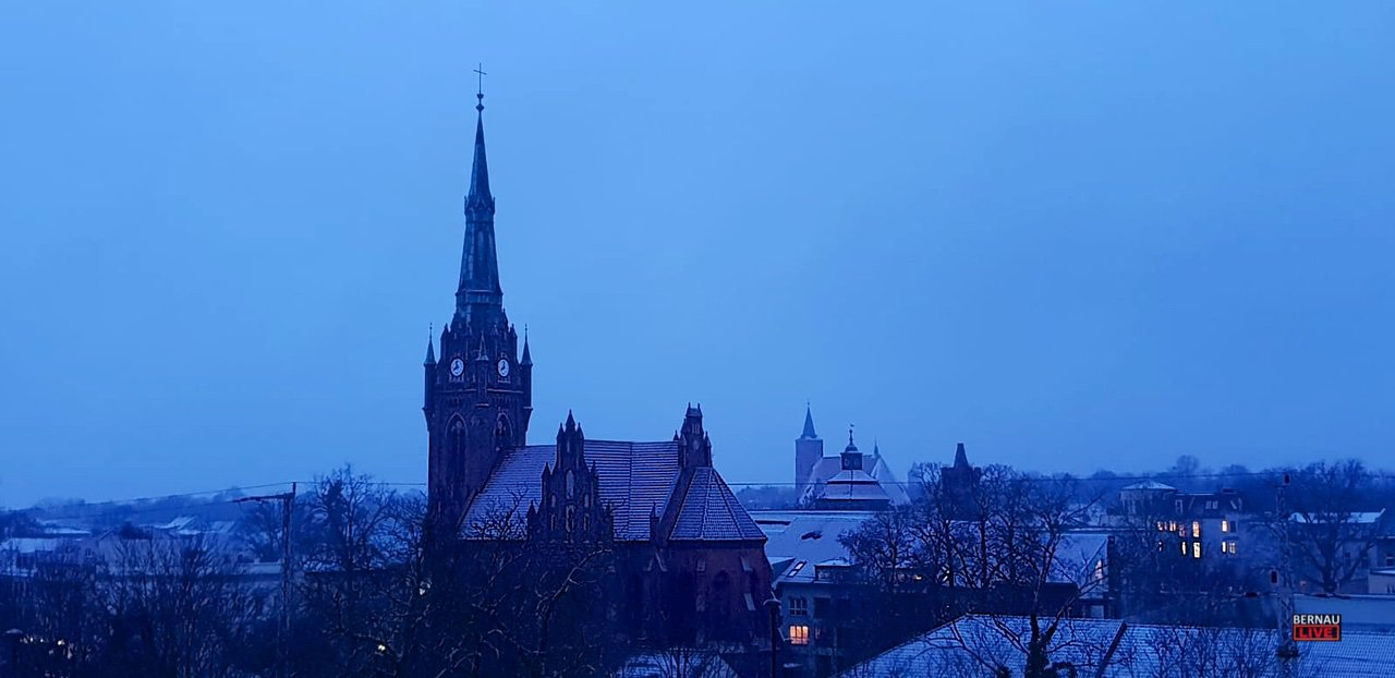 Ein Hauch von Schnee hat sich nach Bernau verirrt - guten Morgen
