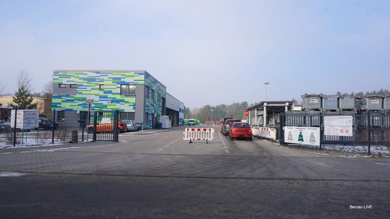 "BDG - Recyclinghof Bernau - vom ""Provisorium"" zum Großbetrieb"