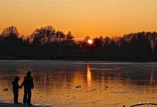 Eisflächen in unserer Region - vom Betreten wird dringend abgeraten