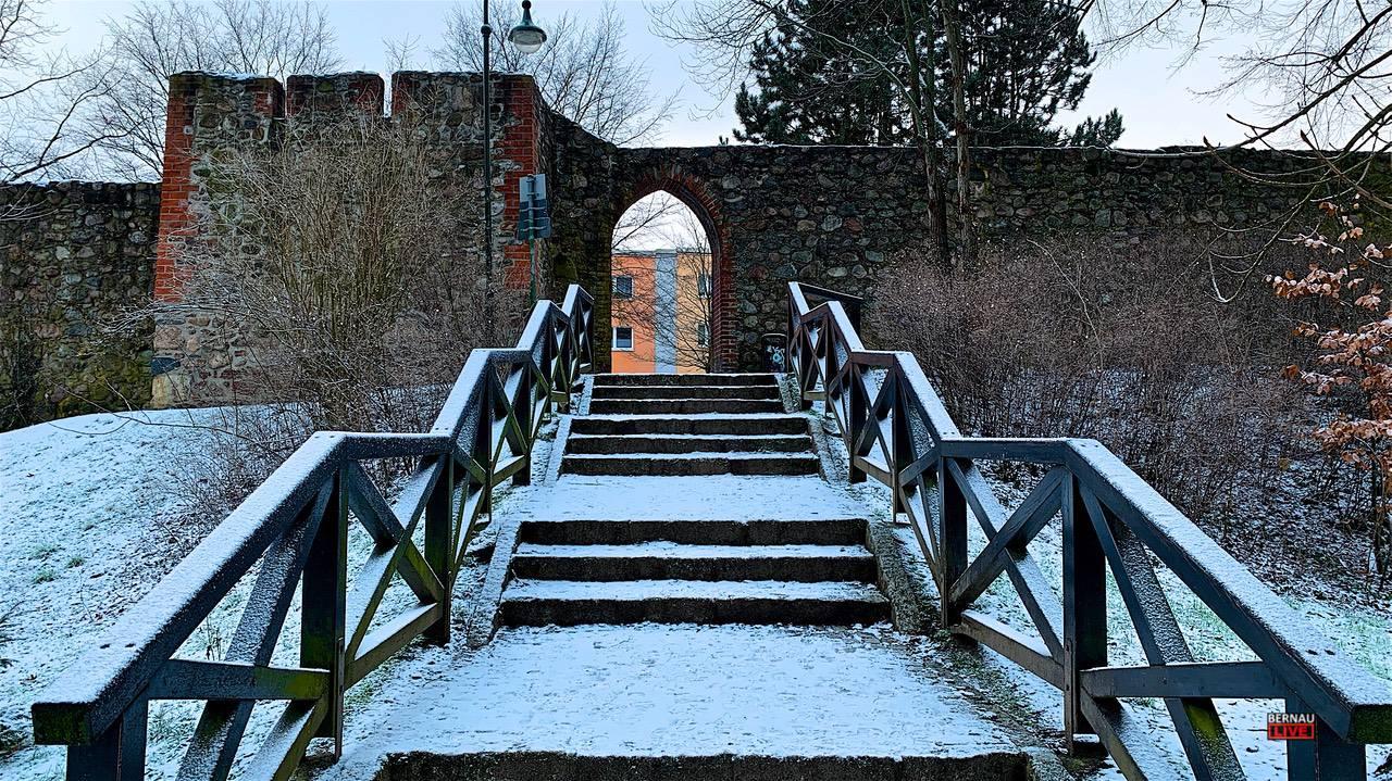 Ein bisschen mehr Schnee hätte es schon sein können, Moin aus Bernau