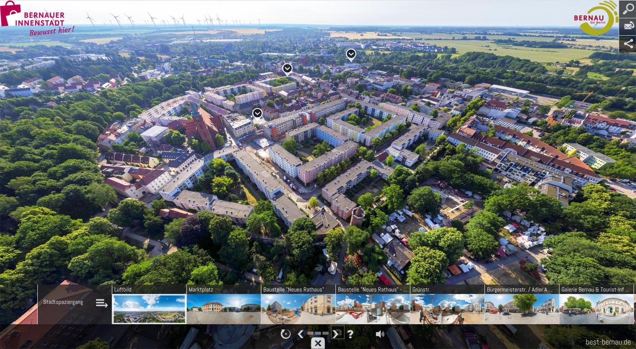 Bernau bei Berlin lässt sich ab heute in 360 Grad entdecken