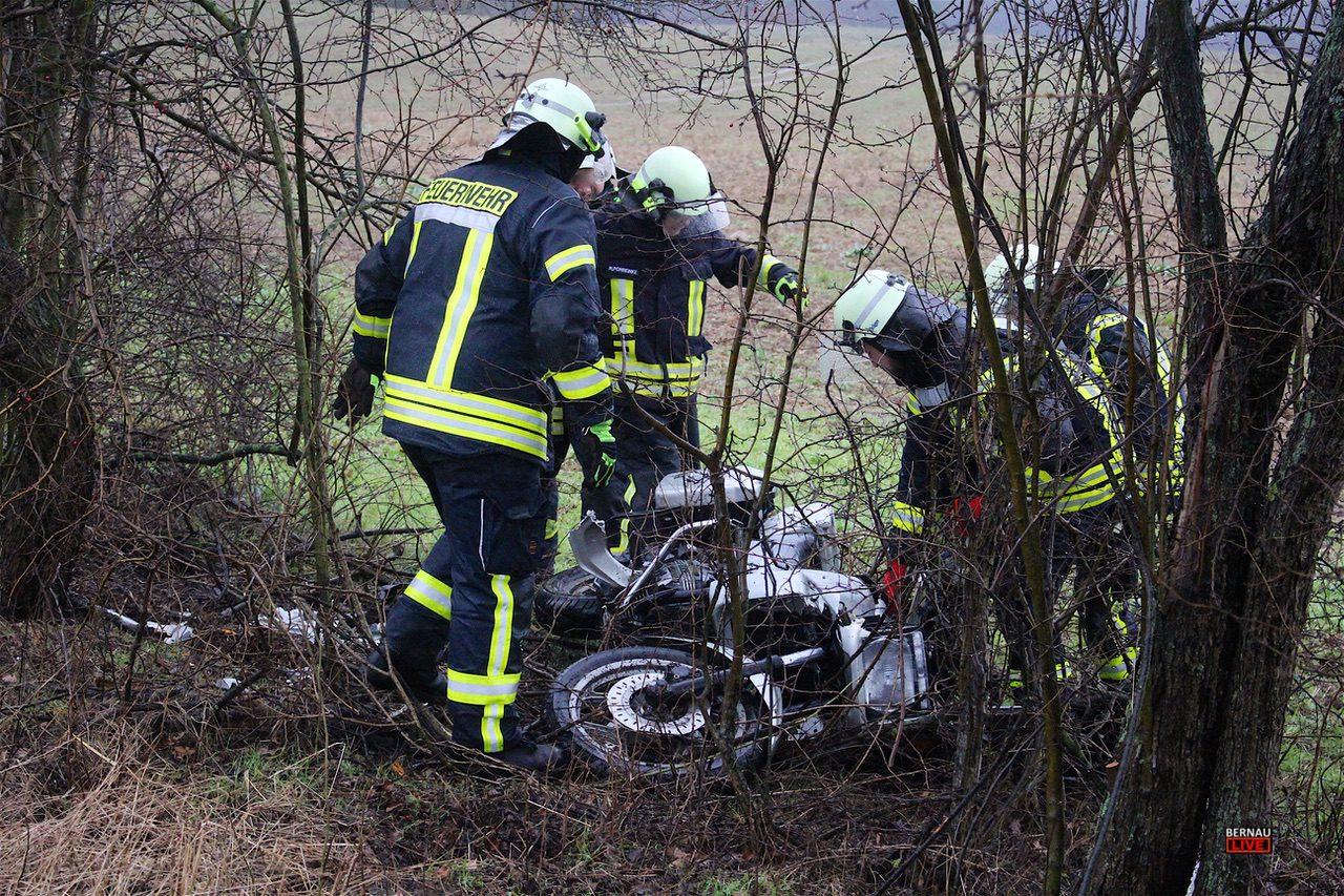 Motorradfahrer nach Unfall schwer verletzt und weitere Polizeimeldungen