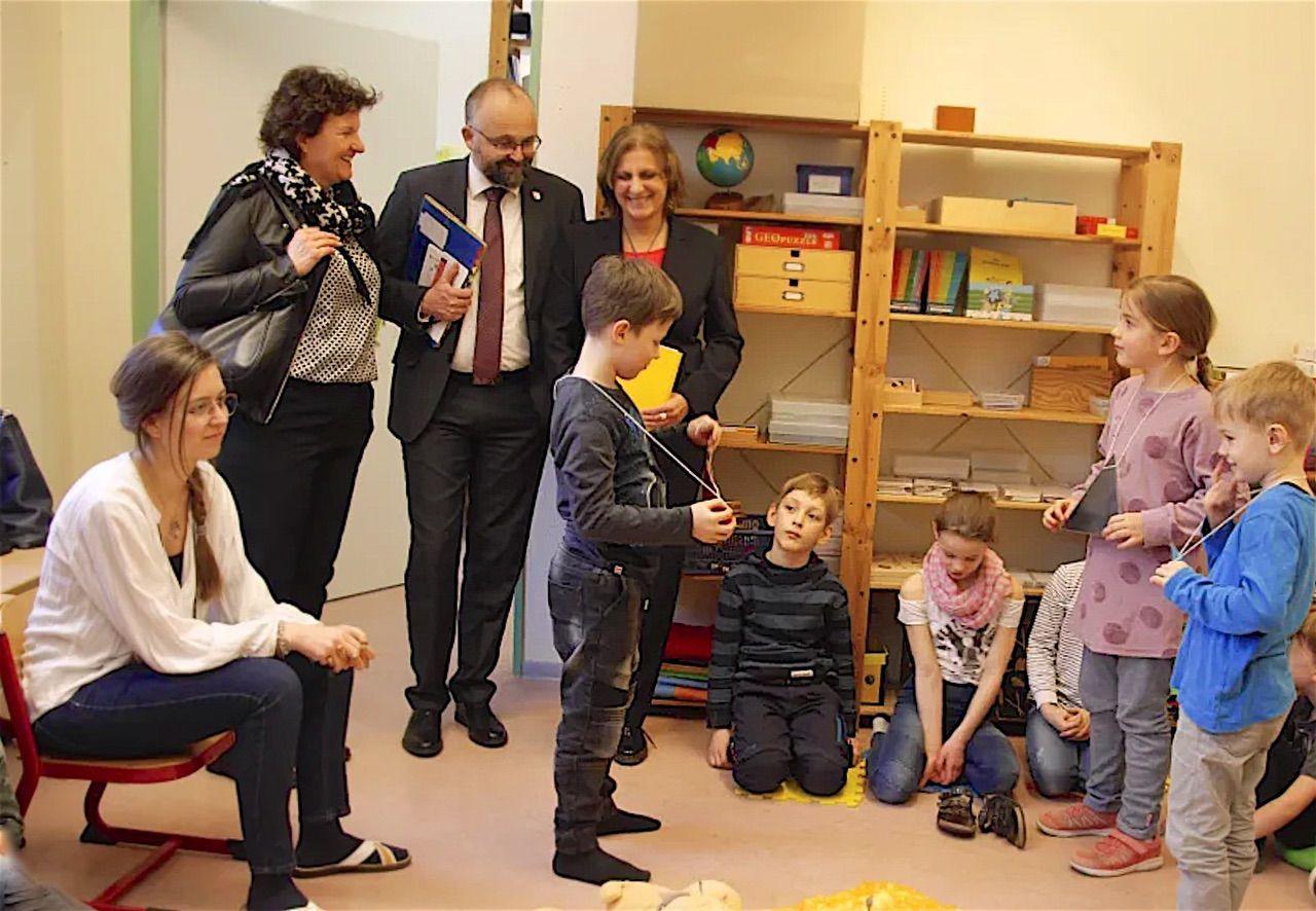 Bildungsministerin besuchte Schulen und Kindergärten in Barnim