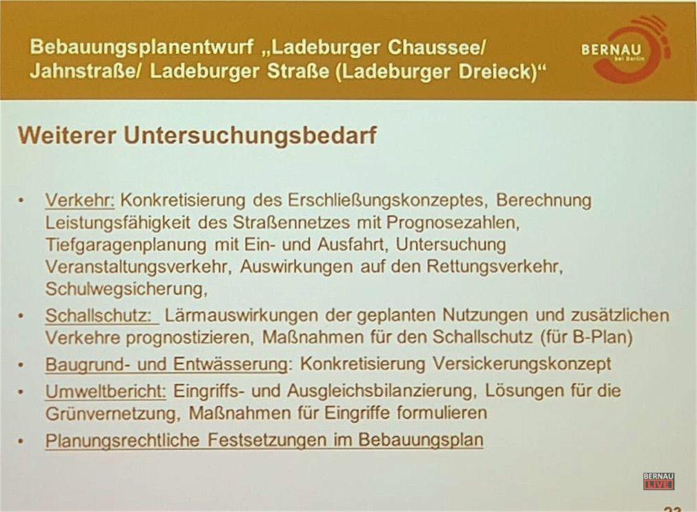 Die Stadt Bernau präsentierte erste Pläne zum Ladeburger Dreieck