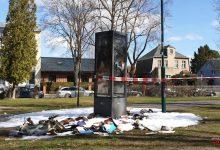 Bücherschrank an der Zepernicker Bahnhofsstraße ausgebrannt