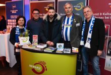 Bernau präsentiert sich als Partnerstadt von Hertha BSC im Olympiastadion