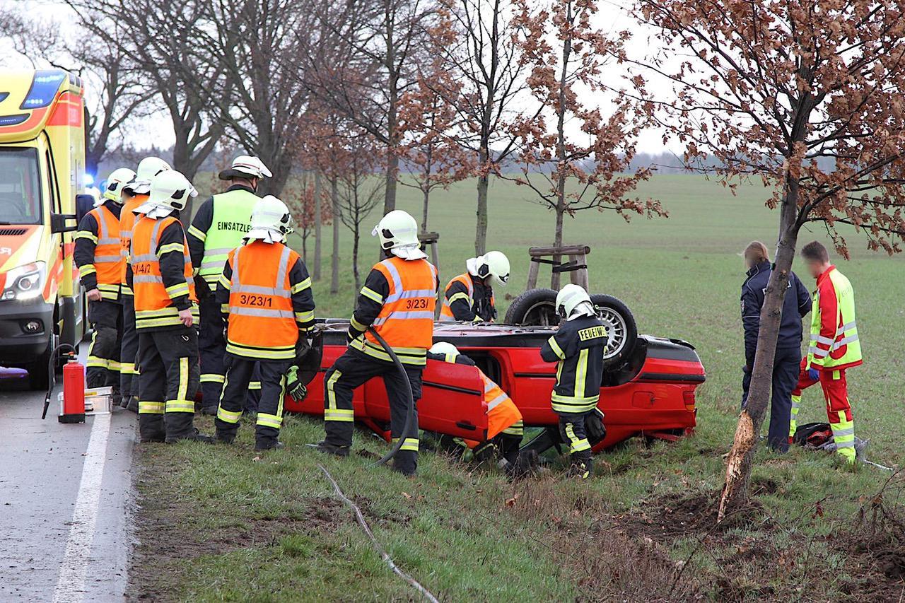 Barnim: Gleich zwei schwere Verkehrsunfälle am Sonntagnachmittag