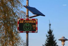 Solarzellen von Geschwindigkeitsanzeige in Rüdnitz gestohlen