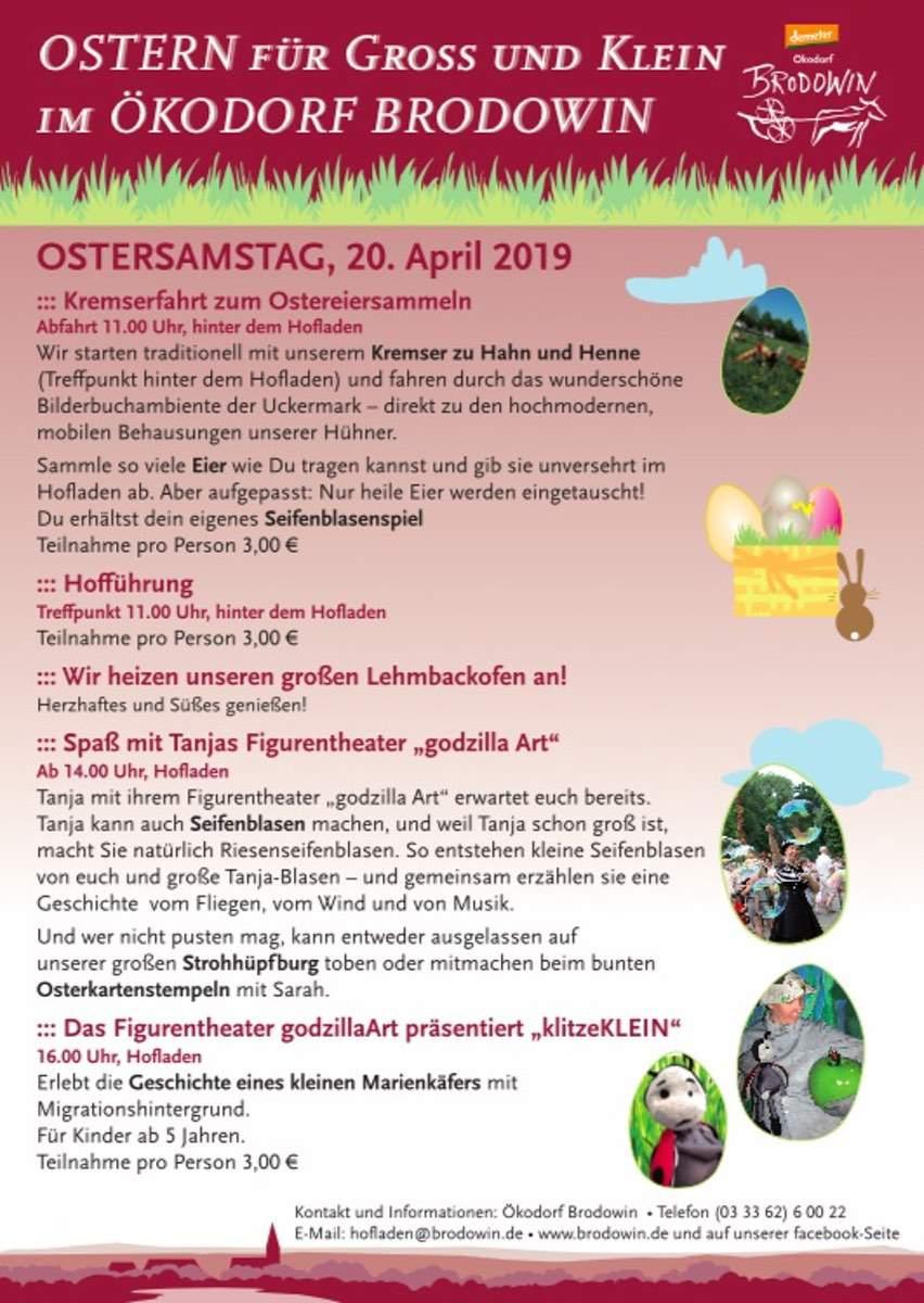 Ostern für Groß und Klein im Ökodorf Brodowin
