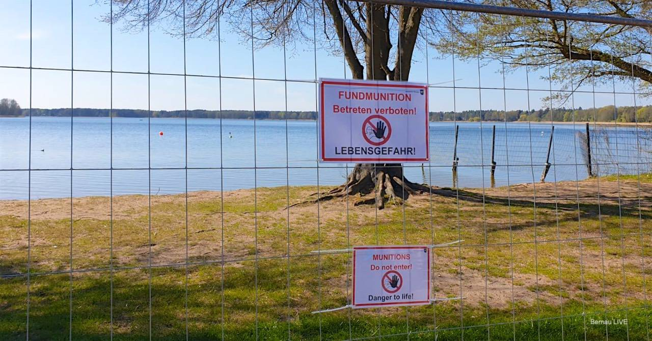 Strandbad Wandlitzsee: Munitionsbergung dauert an - Eröffnung verschoben