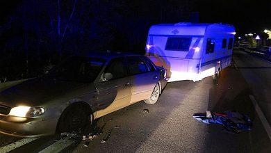 Bernau: Wohnwagendiebstahl endete nach Verfolgung mit kaputten Fahrzeugen