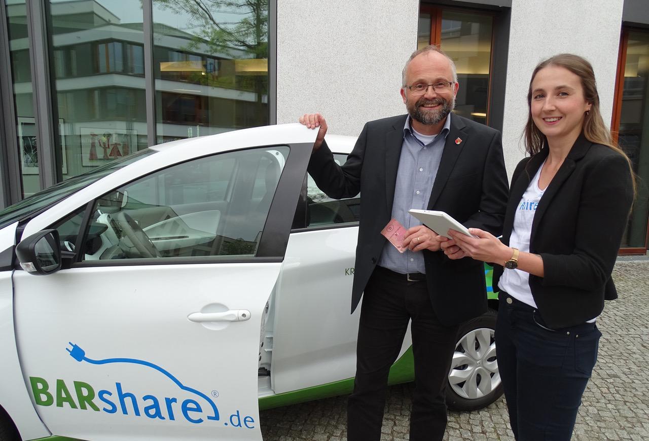 BARshare: Barnimer Kreisverwaltung testet Carsharing-Service