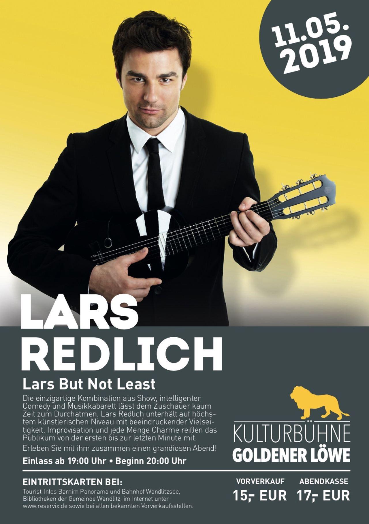 "Comedian Lars Redlich in der Kulturbühne ""Goldener Löwe"" - Freikarten!"