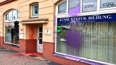 Farbanschlag auf das Bürgerzentrum der CDU in Bernau